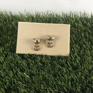 Tiger door knocker earrings